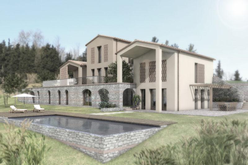 Villa nella campagna Toscana